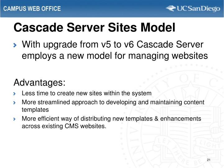 Cascade Server Sites Model
