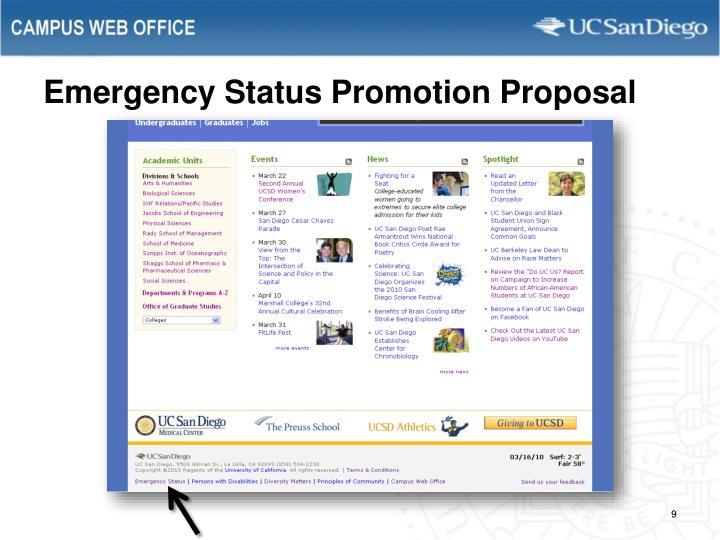 Emergency Status Promotion Proposal