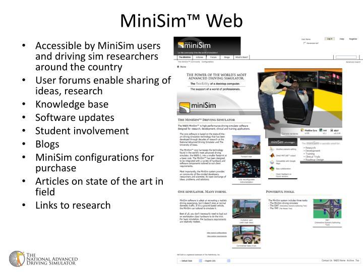 Minisim web