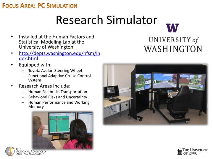 Focus Area: PC Simulation