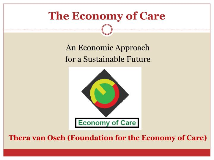 The economy of care