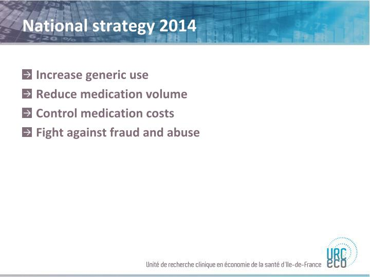 National strategy 2014