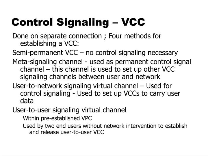 Control Signaling – VCC