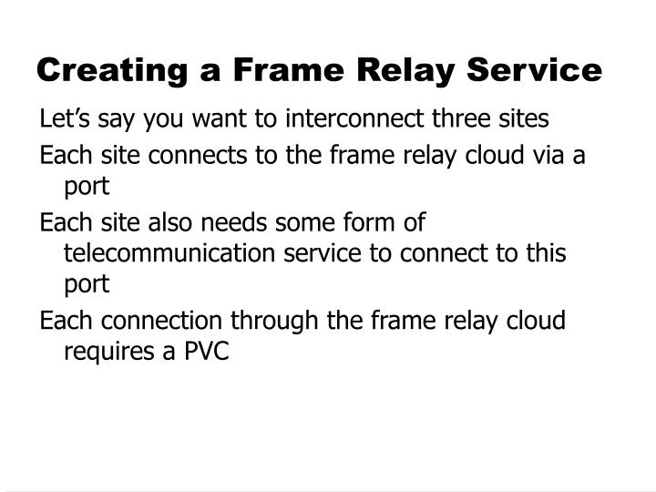 Creating a Frame Relay Service
