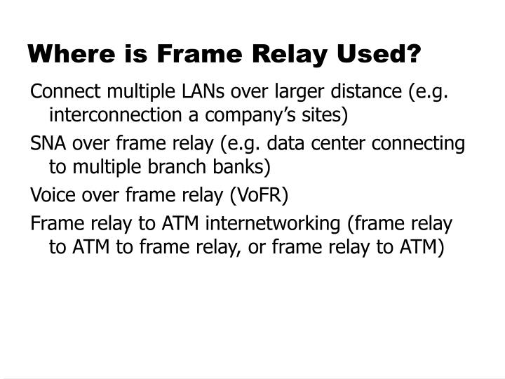 Where is Frame Relay Used?