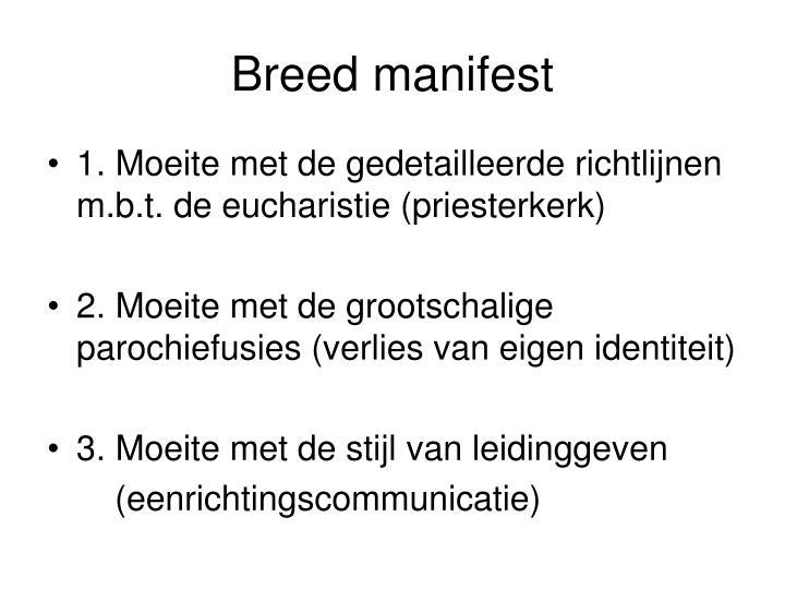 Breed manifest