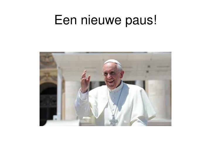 Een nieuwe paus