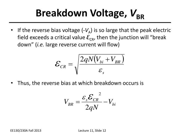 Breakdown Voltage,