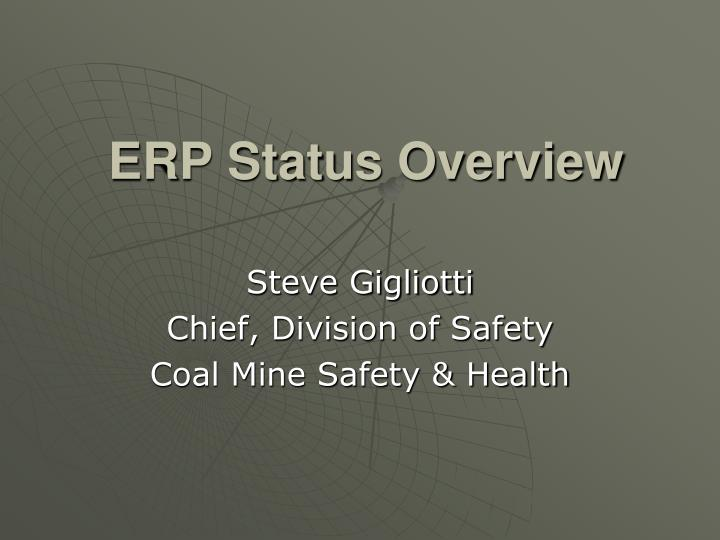 Erp status overview