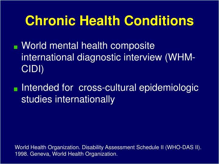 Chronic Health Conditions