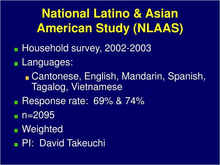 National Latino & Asian American Study (NLAAS)