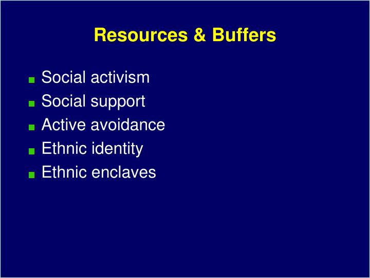 Resources & Buffers