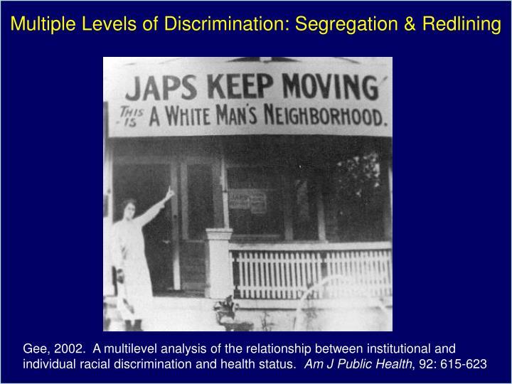 Multiple Levels of Discrimination: Segregation & Redlining