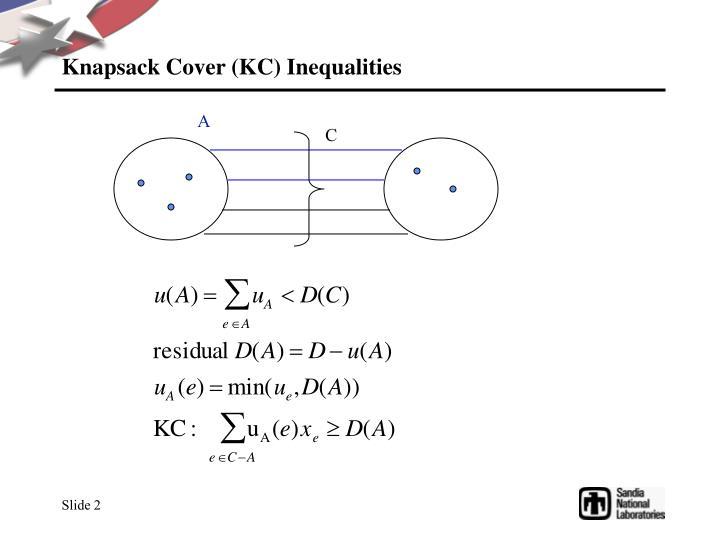 Knapsack cover kc inequalities