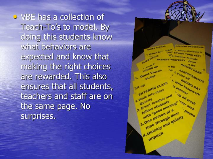 VBE has a collection of Teach-