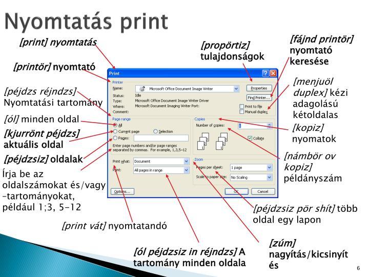 Nyomtatás print