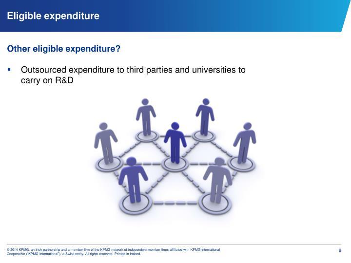 Eligible expenditure