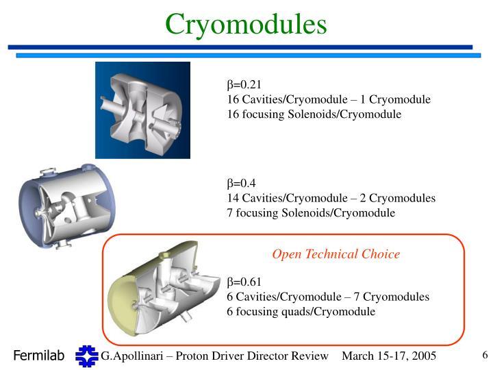 Cryomodules
