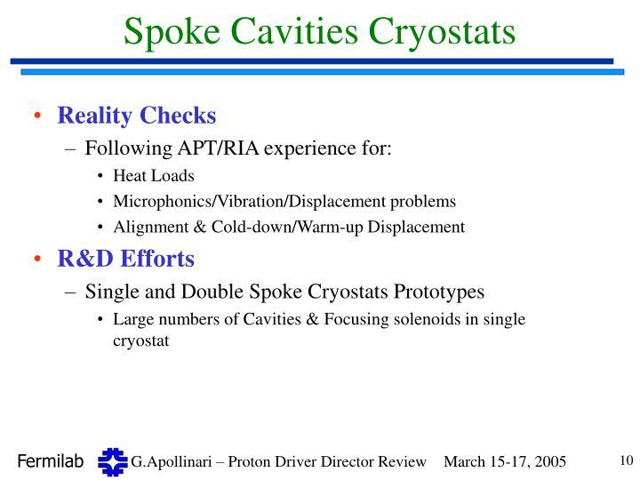 Spoke Cavities Cryostats