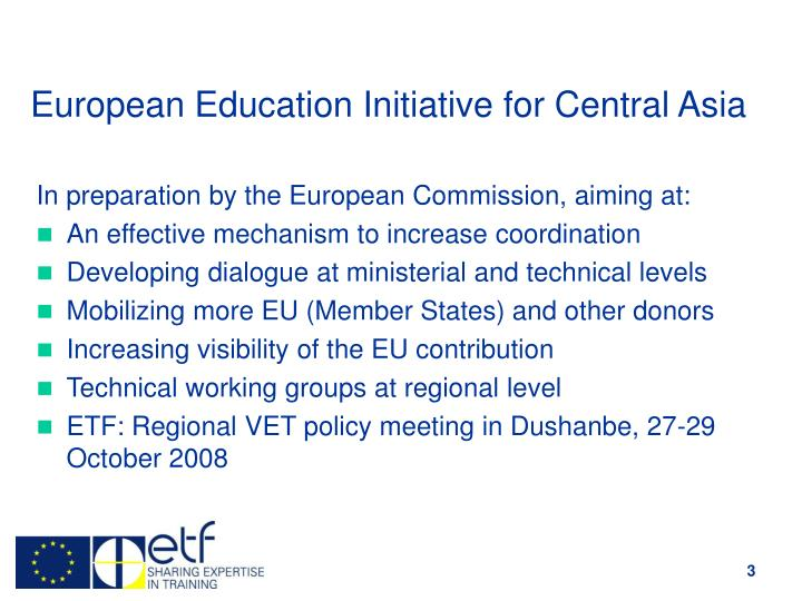 European education initiative for central asia