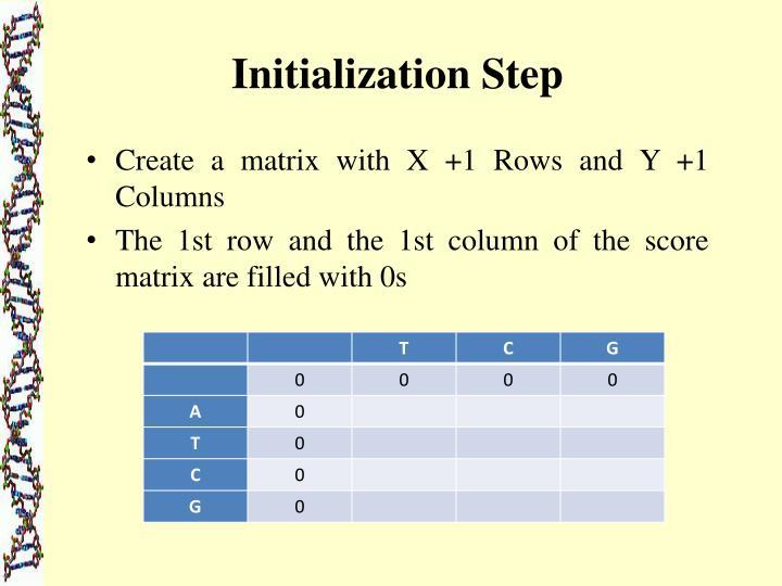 Initialization Step