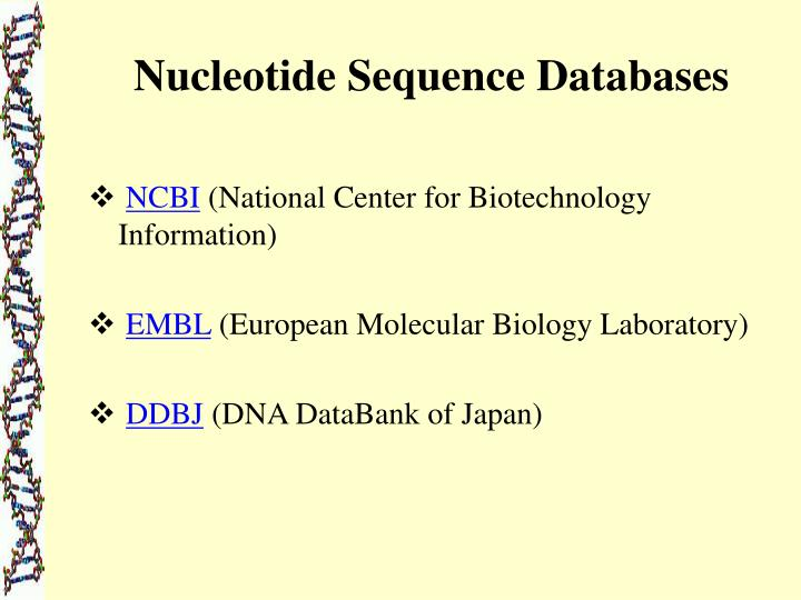 Nucleotide Sequence Databases