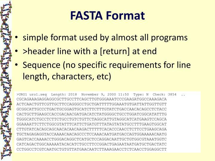 FASTA Format