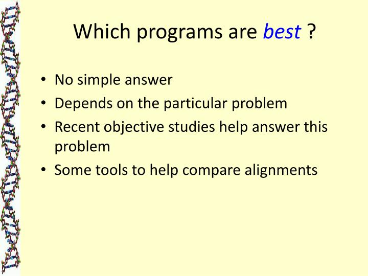 Which programs are