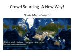 crowd sourcing a new way