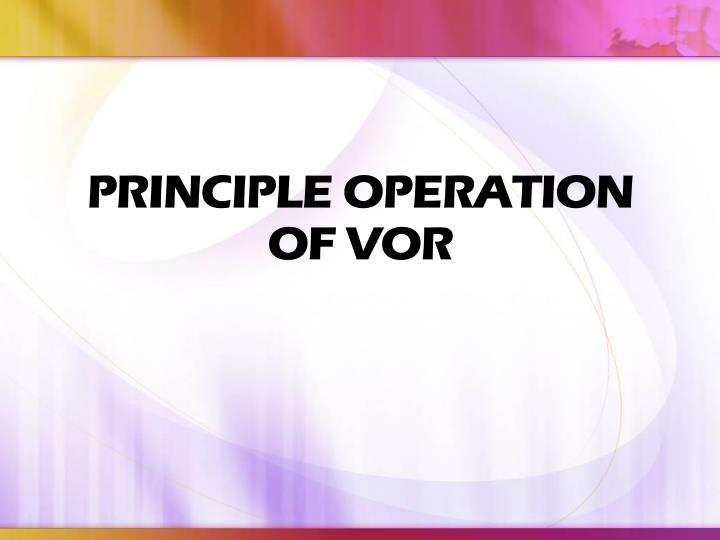PRINCIPLE OPERATION OF VOR