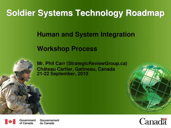 Soldier systems technology roadmap