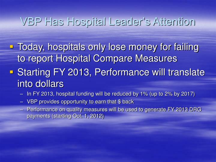 VBP Has Hospital Leader's Attention