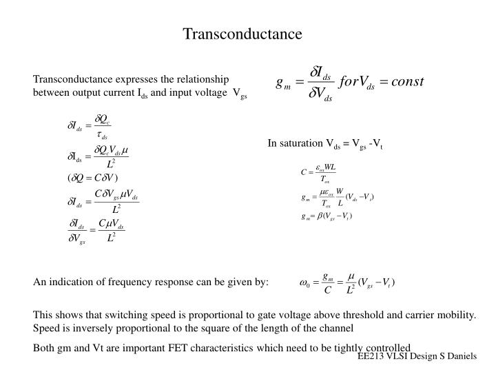 Transconductance