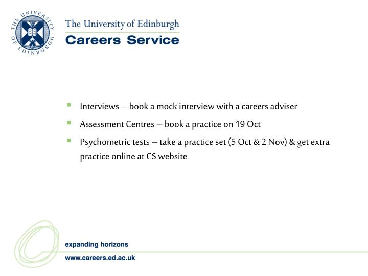 Interviews – book a mock interview with a careers adviser