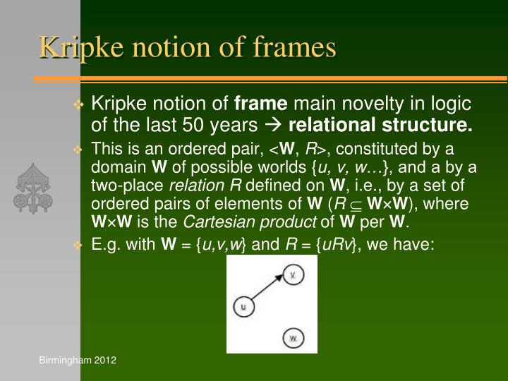 Kripke notion of frames