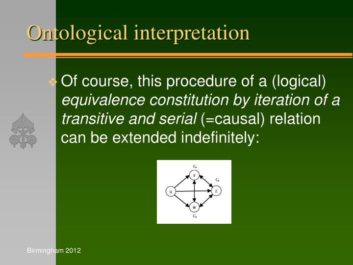 Ontological interpretation