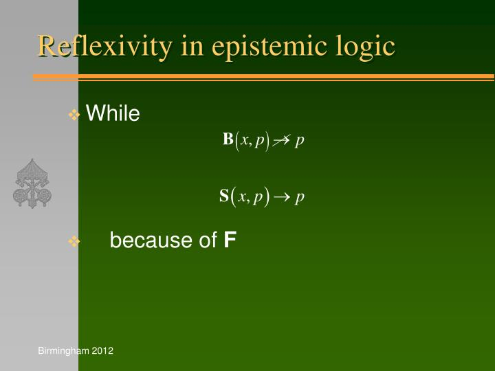 Reflexivity in epistemic logic