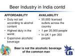 beer industry in india contd1