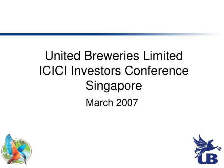 united breweries limited icici investors conference singapore