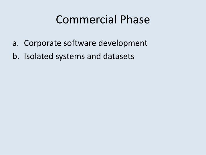 Commercial Phase