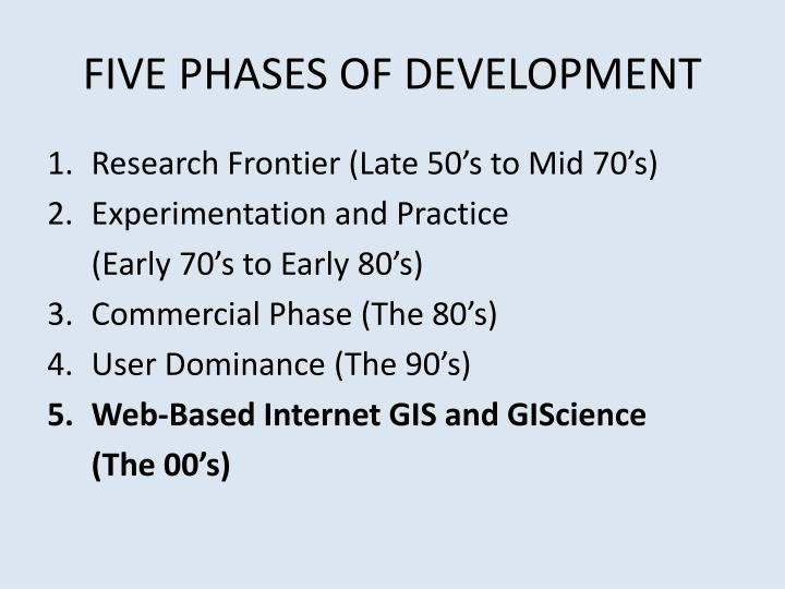 FIVE PHASES OF DEVELOPMENT