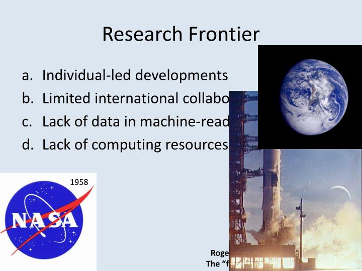 Research frontier