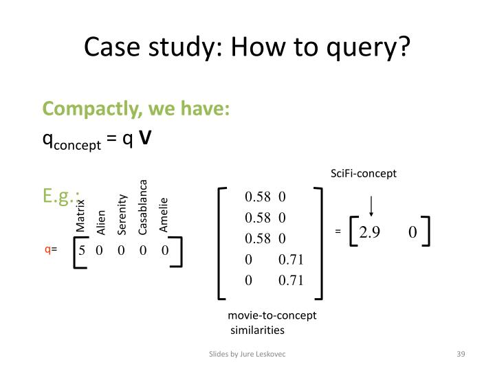 Case study: How to query?