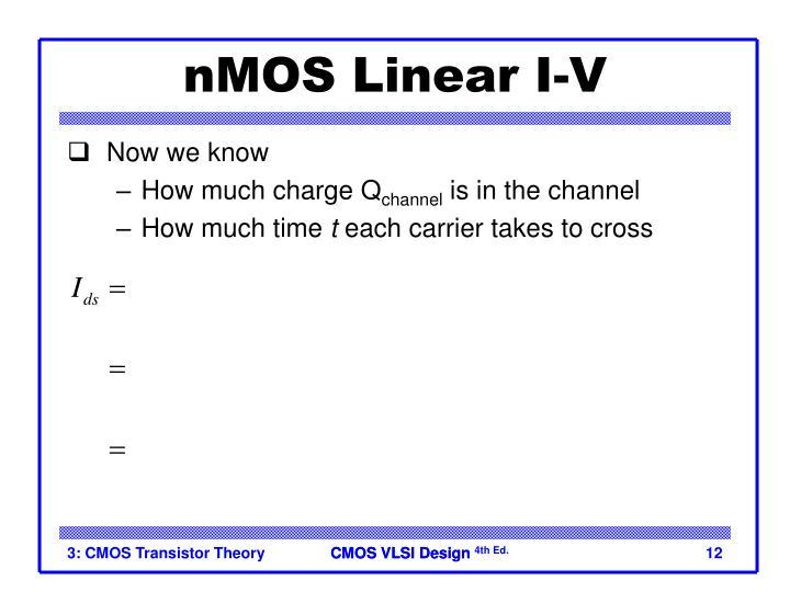 nMOS Linear I-V