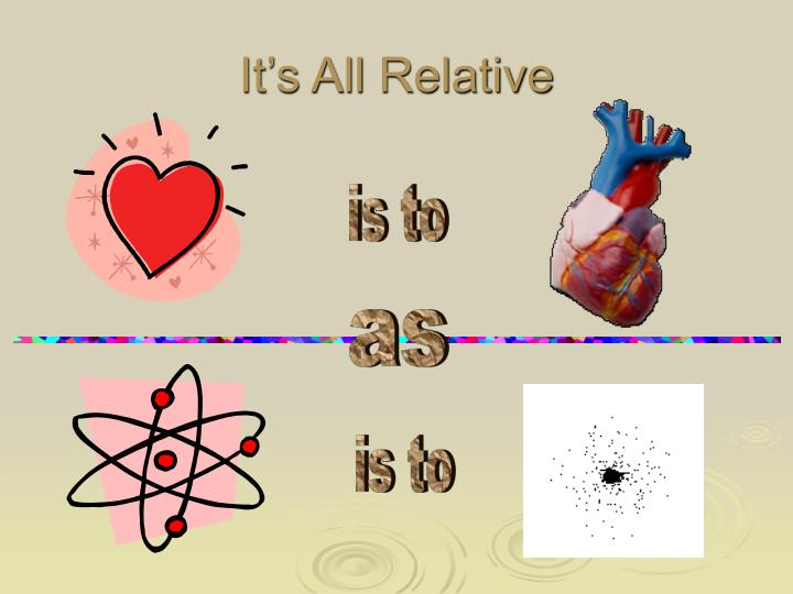 It s all relative