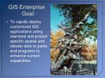 gis enterprise goal