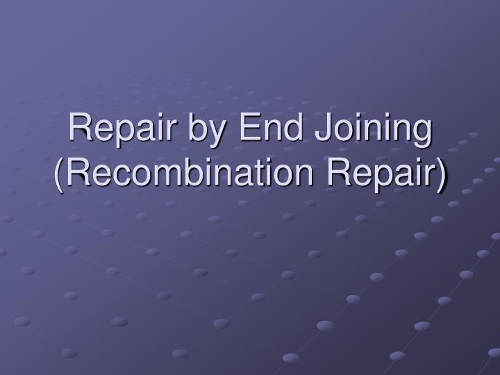 Repair by End Joining (Recombination Repair)
