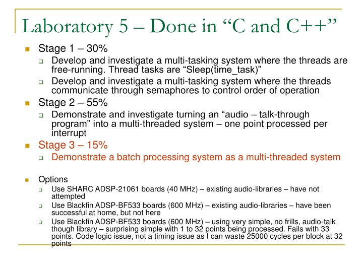 "Laboratory 5 – Done in ""C and C++"""