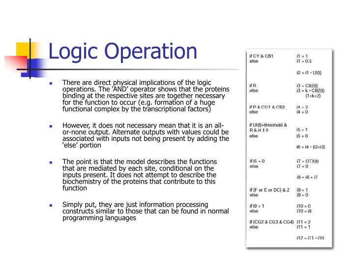 Logic Operation