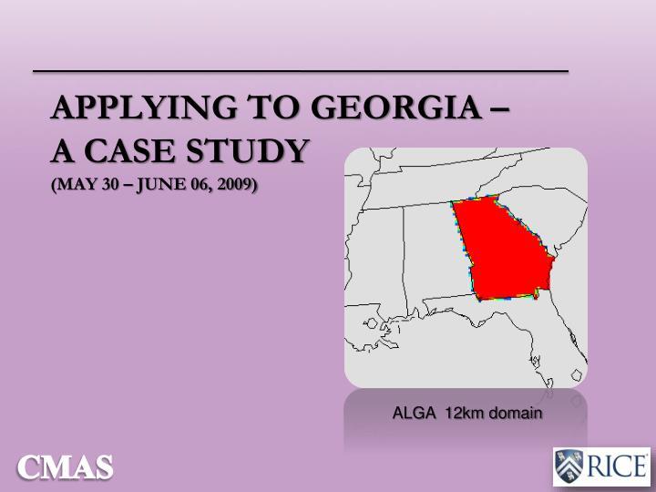 Applying to Georgia –